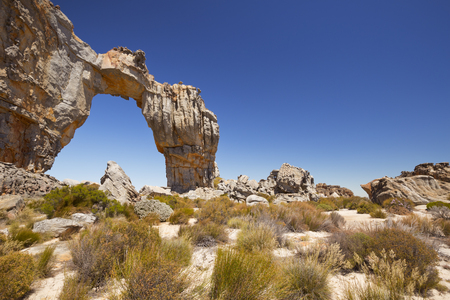 The remote Wolfsberg Arch in the Cederberg Wilderness in South Africa.