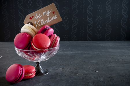A collection of pink macarons for Valentines Day. Reklamní fotografie