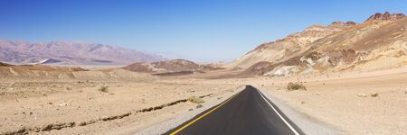 The Artist's Drive in Death Valley National Park, California, USA on a clear day.