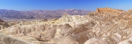 View from Zabriskie Point in Death Valley National Park, California, USA on a clear day.