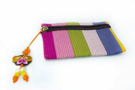 change purses: Wallet colorful on white background