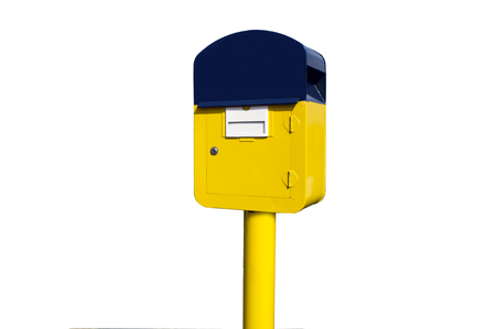 metal mailbox: Post Mail box on white background
