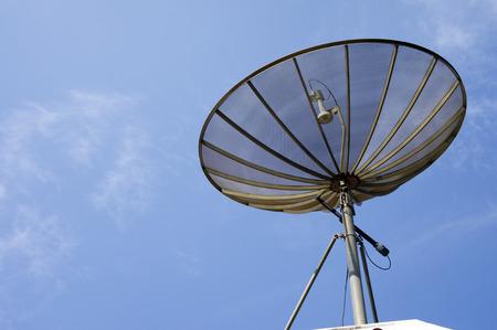 sattelite: Sattelite dish (C-Band) on Sky background