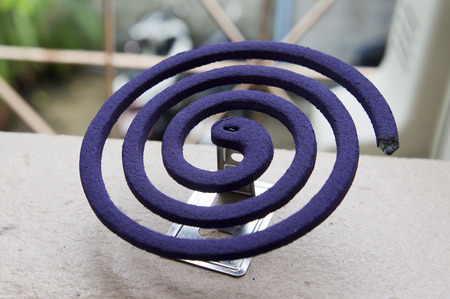 Mosquito coil is mosquito repelling incense. photo