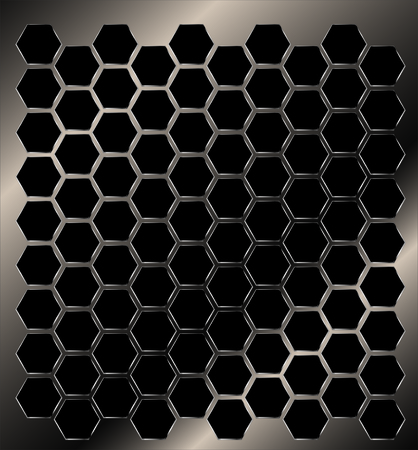 metal pattern: metal plate grill drilled with holes Illustration