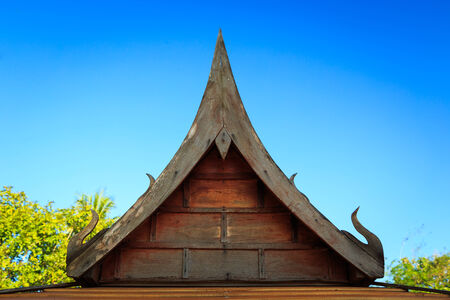 Wooden gable roof . photo
