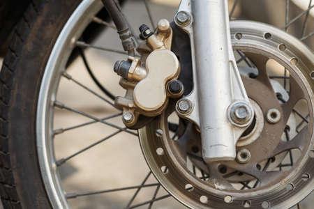 Motorbike engine disk brake
