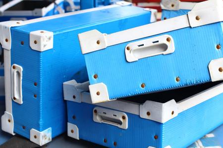 plastic box: Factory plastic box Stock Photo