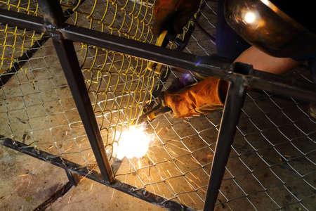 soldadura: la soldadura eléctrica Foto de archivo
