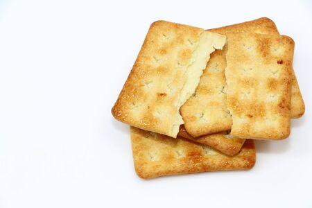 sesame cracker: Sweet cracker snack and food for appetizer Stock Photo