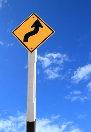 blu sky: Traffic sign and blu sky background