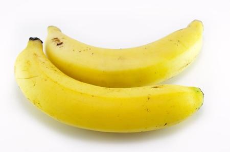 Banana sweet fruit on white background