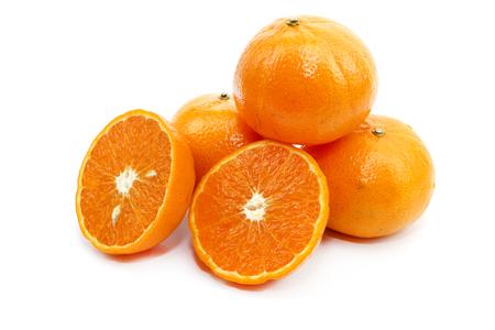 Sweet orange fresh fruit on white background Stock fotó