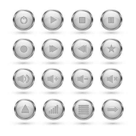 media player: Media player buttons Illustration