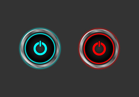 Start stop power button Vector