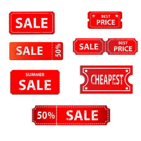 cut price: tag sale