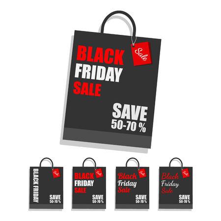 Black Friday shopping bag .vector