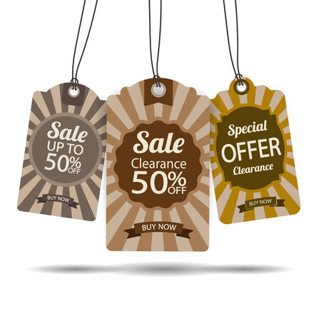reduction: Set of tags for sale