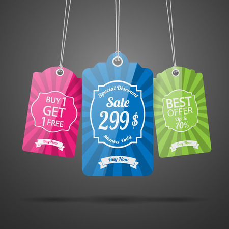 tags for sale. Vector