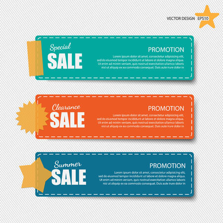sticky notepaper: Sale banners
