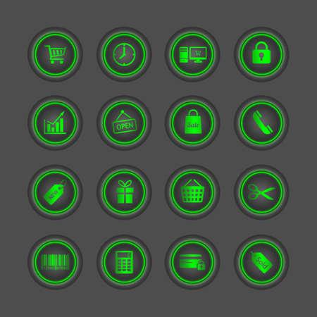 Shopping icons set. Vector Vector