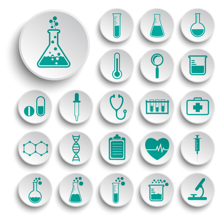 science icons: Set of science icons