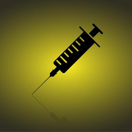 inoculation: Syringe web icon Illustration