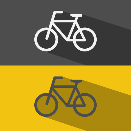 bicycle icon: Bicycle flat icon vector.