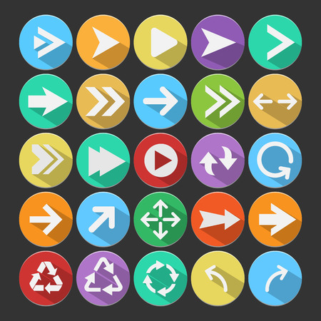 score under: Arrow flat icons,vector