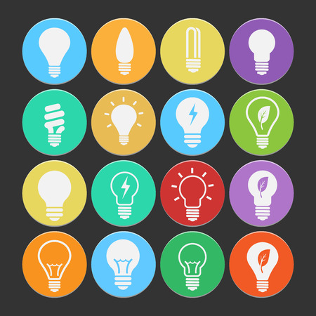 Bulb icon set vector.