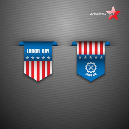 American Labor Day designs. Vector