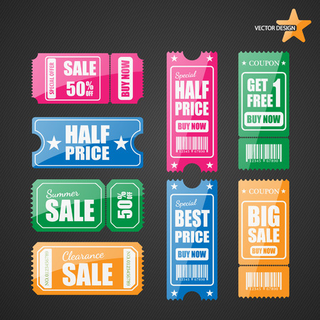 discount coupon: Vector sale tickets. Illustration