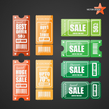 Vector sale tickets. Vector