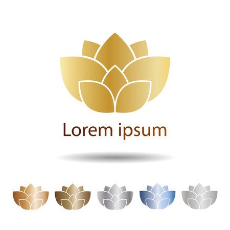 Vector lotus flowers design.