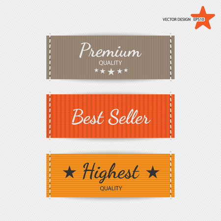 woven label: Clothing labels. Vector. Illustration