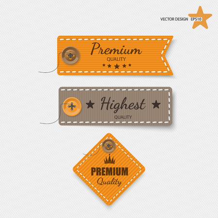 clothing label: Clothing labels. Vector. Illustration