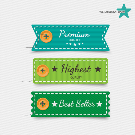 cloth: Clothing labels. Vector. Illustration