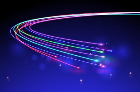 fibra óptica: Fibers.vector óptico