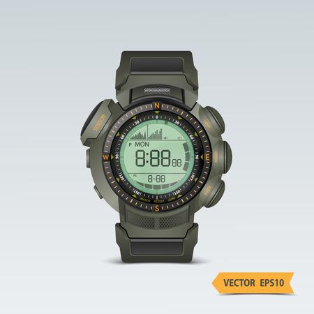 orologio da polso: Vector polso realistico orologio. Vettoriali