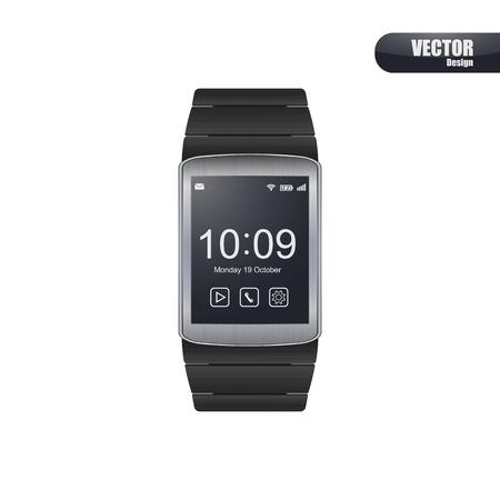 wristband: Smart watch vector.