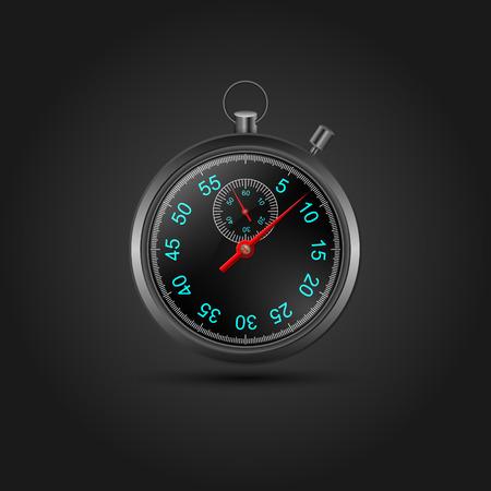chronometer: Vector stopwatch Illustration