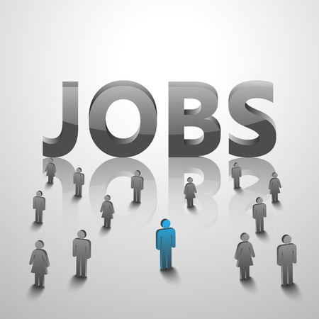 looking for job: people looking for job,vector Illustration