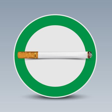 smoking area: The sign smoking area