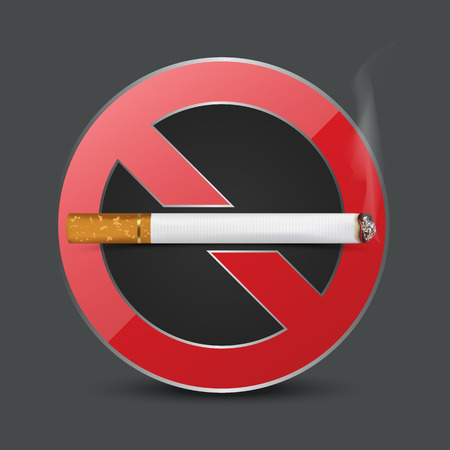 exclude: No Smoking Sign,vector Illustration