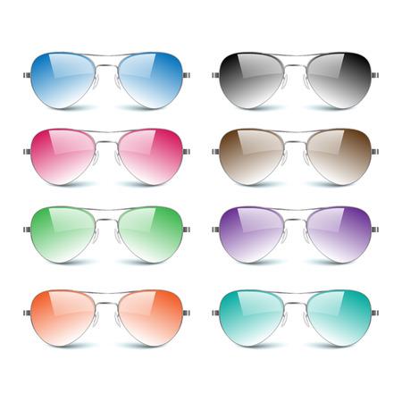 Sun glasses on white