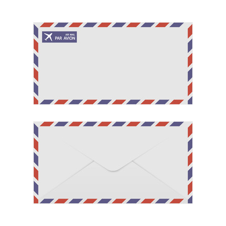 airmail: Airmail Envelope Front & Back