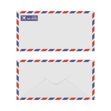 old envelope: Airmail Envelope Front & Back