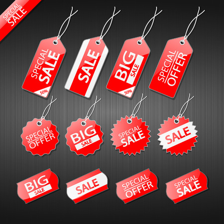 Set of tags for sale.