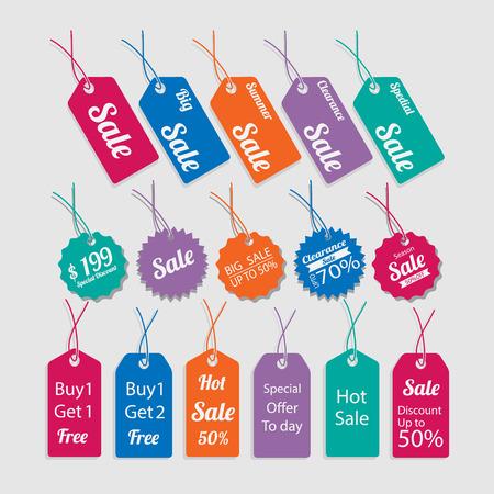 Set van labels voor de verkoop. Stock Illustratie