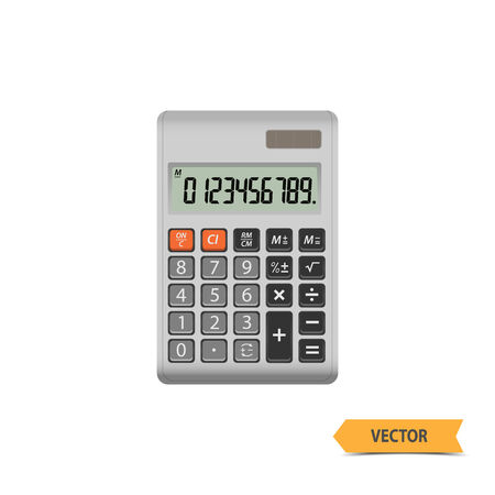 subtract: Electronic calculator vector.